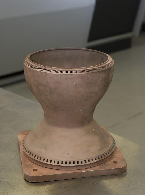 copper rocket part