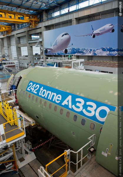 Airbus begins final assembly on 242t take-off-weight A330