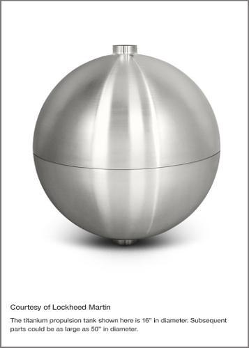 Titanium propulsion tank