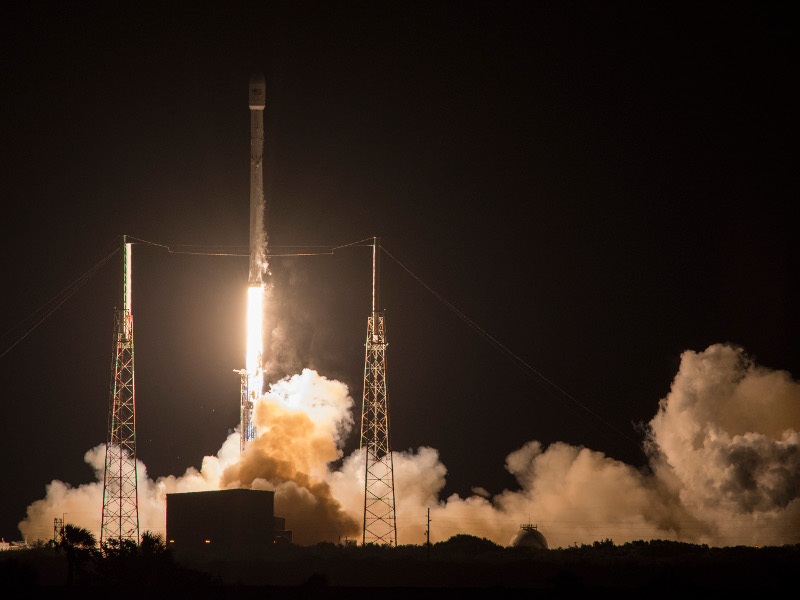 JCSAT-14 was launched aboard SpaceX Falcon 9 launch vehicle. Image courtesy of SPACE EXPLORATION TECHNOLOGIES CORP.
