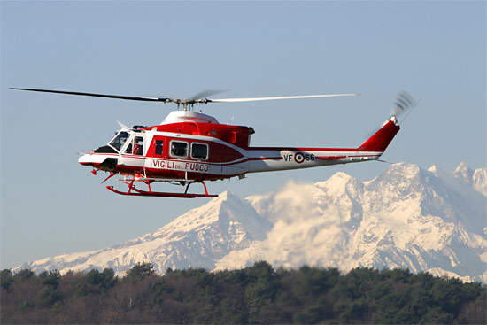 The 412 helicopter is manufactured by Bell Helicopters and also by AgustaWestland under licence.