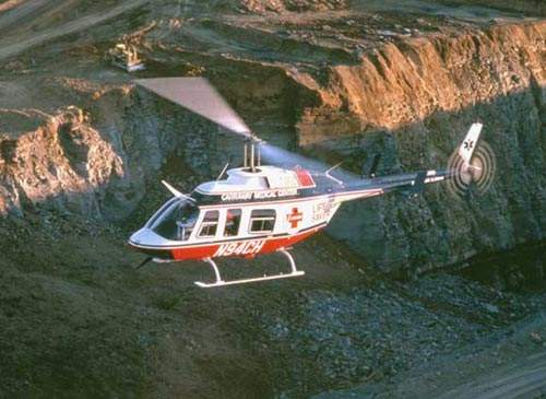 The Bell 206L LongRanger light helicopter is a stretched version of the Bell 206B JetRanger, which entered service in 1977. The current production version, the Bell 206L LongRanger IV, entered service in 1992.