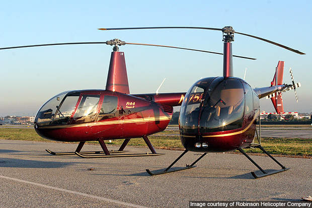 The R44 Raven II made its maiden flight in March 1990.
