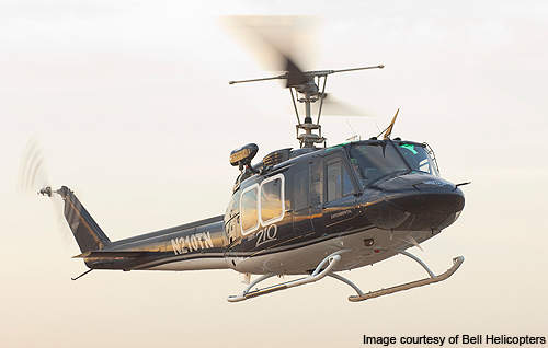 Bell 210 can execute law enforcement, forestry, and fire-fighting missions.