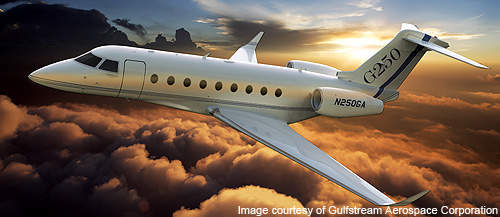 Gulfstream G280 (formally G250) is a super mid-size business jet.