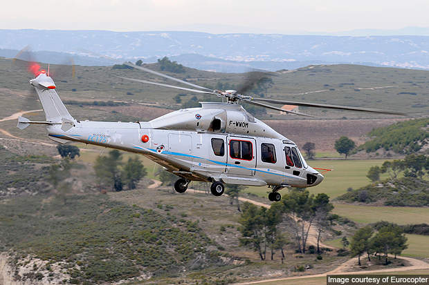 EC175 is designed and built jointly by Eurocopter and HAIG.