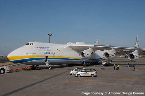 An-225 is designed and built by Antonov Design Bureau.