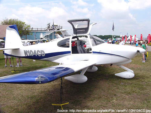 RV-10 showcased in Sun and Fun 2006 show in Lakeland, Florida.