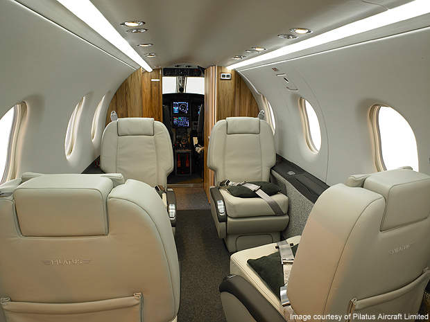 The PC-12NG executive cabin.