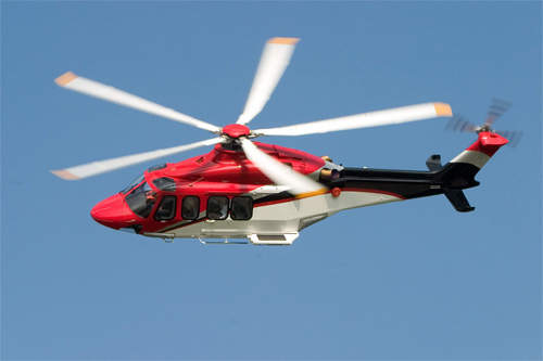 The AW139 (formerly known as the AB139) medium twin-turbine helicopter.