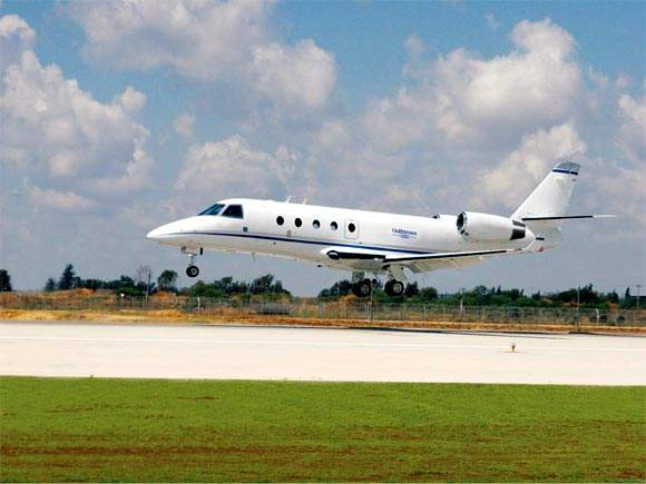The Gulfstream G150 is powered by two Honeywell TFE731-40R turbofan engines, each rated at 19.6kN.