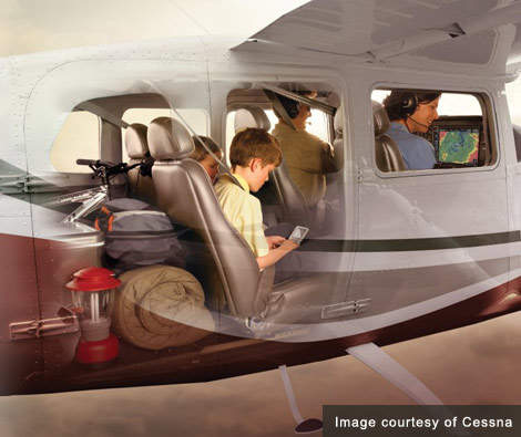 The removable seats and double cargo doors of the Cessna Stationair make moving larger loads a breeze.