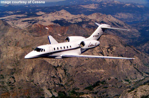 The Citation X is currently the fastest civilian aircraft, with an ability to cruise just under the sound barrier at Mach .92.