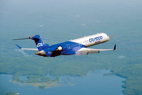 The maiden flight of the Bombardier CRJ1000 next-generation regional jet in September 2008.