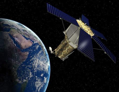 Artist's rendering of GeoEye-2 spacecraft.