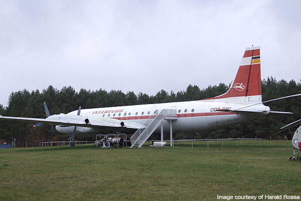 An IL-18 displayed at Borkheide museum in Germany.