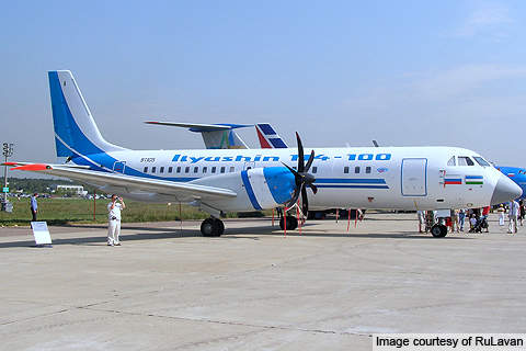 The IL-114 is a mid-range passenger jetliner designed and manufactured by Ilyushin Aviation Complex.