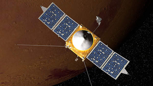 Mars Atmosphere and Volatile EvolutioN (MAVEN) is a robotic spacecraft planned to be used for Nasa's space exploration mission. Image courtesy of Nasa / Goddard Space Flight Center.