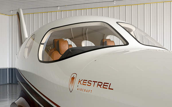 Kestrel's new turboprop aircraft is expected to come into service by 2016. Image courtesy of Kestrel Aircraft.