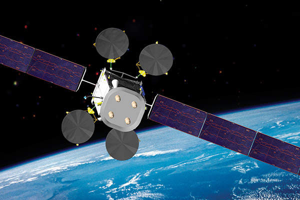 Intelsat 27 communication satellite would have offered services to media, network and government agencies. Image courtesy of Intelsat.