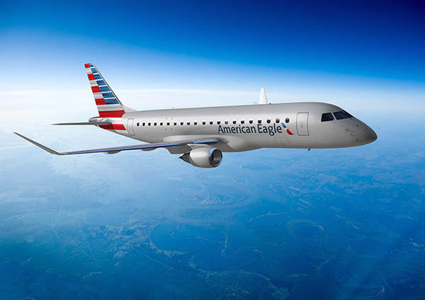 Embraer E175 is a commercial jet that is part of the E-Jet family.