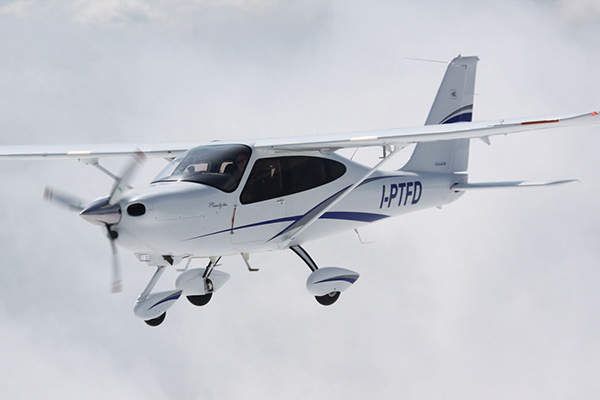 P2010 made its maiden flight in April 2012. Image courtesy of Costruzioni Aeronautiche TECNAM S.r.l.