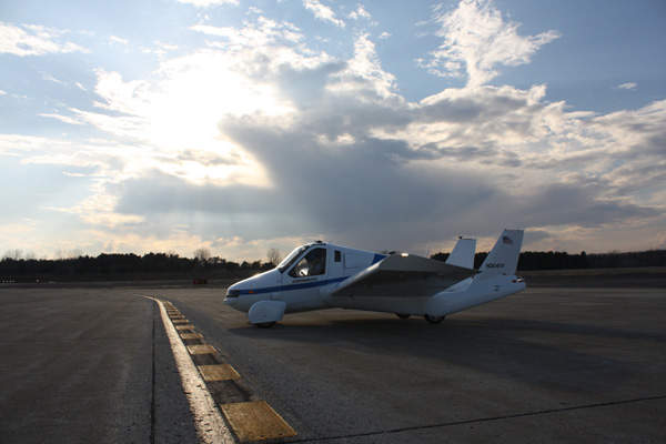 The Transition Roadable Aircraft (or Street-Legal Airplane) is a light sport plane being developed by US-based Terrafugia. Image courtesy of Terrafugia.
