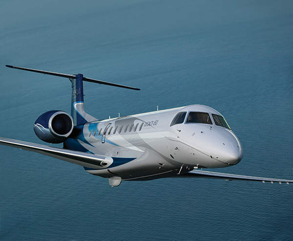The Legacy 650 aircraft is a longer-range version of the Legacy 600. Image courtesy of Embraer.