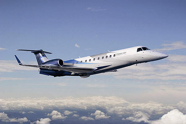 Legacy 600 is a super midsize aircraft which entered into service in April 2002. Image courtesy of Embraer Executive Jets.