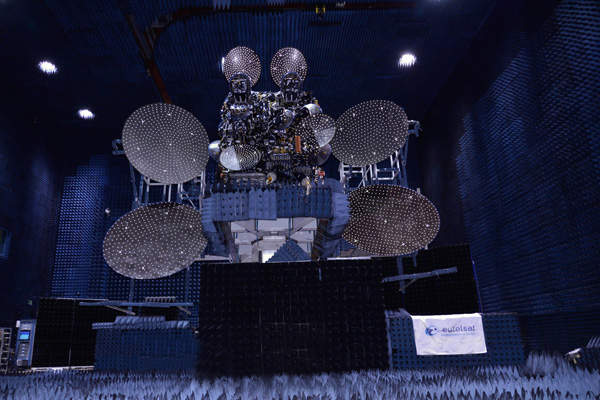 The Eutelsat 25B communication satellite was launched on 29 August 2013. Image courtesy of Space Systems / Loral.