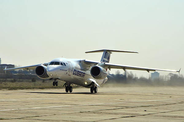 The maiden flight of AN-158 was completed in April 2010. Image courtesy of Antonov.