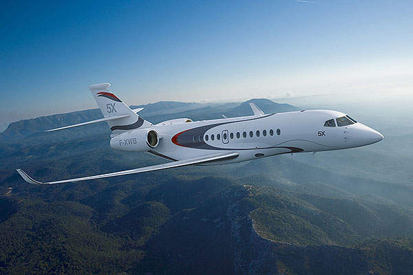 Dassault Falcon 5X was unveiled at the NBAA convention in October 2013. Image courtesy of Dassault Aviation.