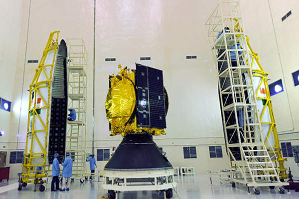 GSAT 14 was assembled and manufactured by ISRO. Image courtesy of ISRO.