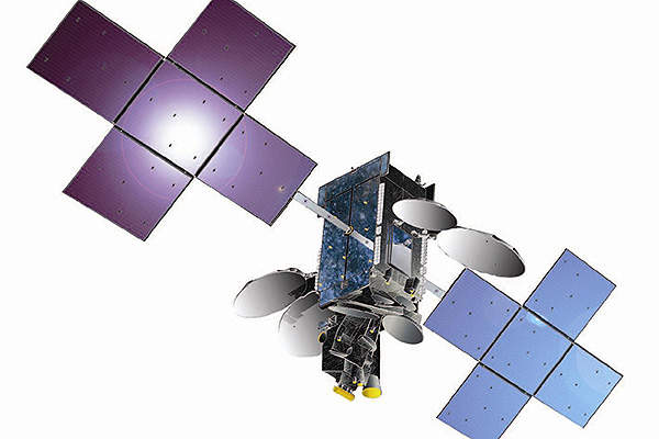 The ABS-2 telecommunication satellite was built by Space Systems/Loral (SS/L). Image courtesy of Asia Broadcast Satellite.