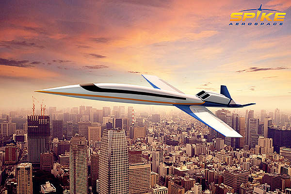 Artist's rendering of Spike S-512 supersonic business jet.
