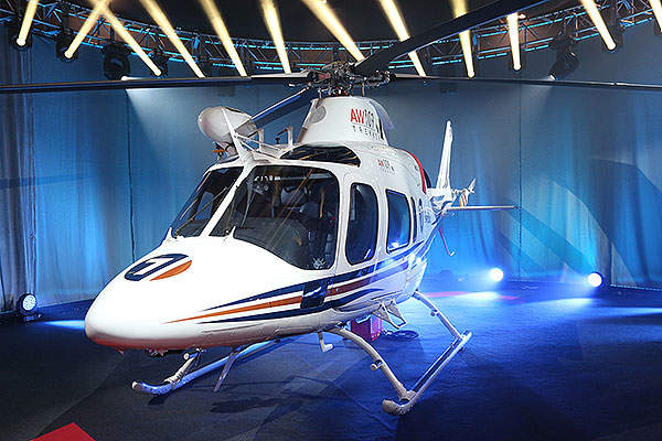 AW109 Trekker was unveiled at the Heli Expo 2014 held at Anaheim in California. Image courtesy of AgustaWestland.