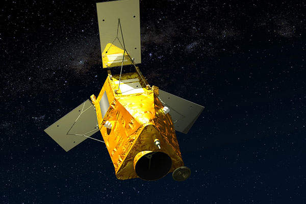 An artist's rendering of KazEOSat-1 satellite.  Image courtesy of Airbus Defence and Space.