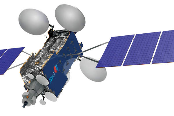 Artist's rendering of the Jabiru-1 satellite owned and operated by NewSat. Image courtesy of NewSat.