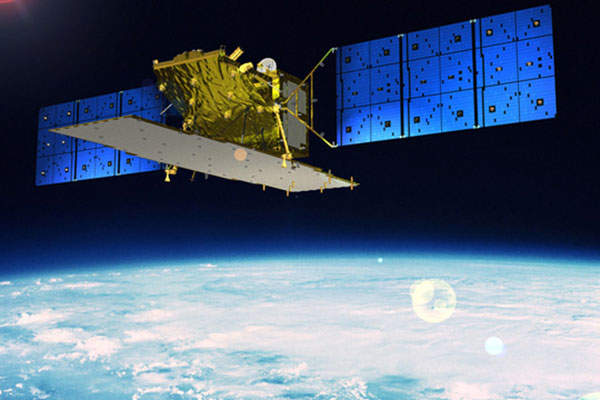 Artist's rendition of the Advanced Land Observing Satellite-2 (ALOS-2).