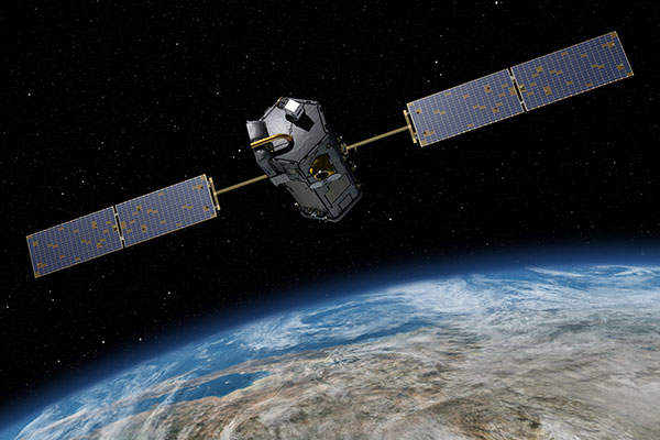Orbiting Carbon Observatory-2 (OCO-2) helps scientists study how carbon is contributing to climate change. Image courtesy of Nasa/JPL-Caltech.
