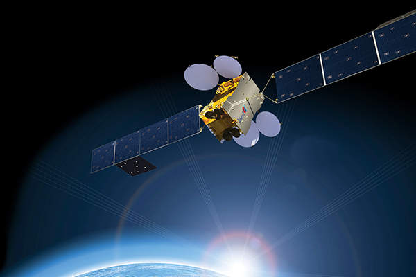 An artist's rendering of the Jabiru-2 satellite. Image courtesy of NewSat.