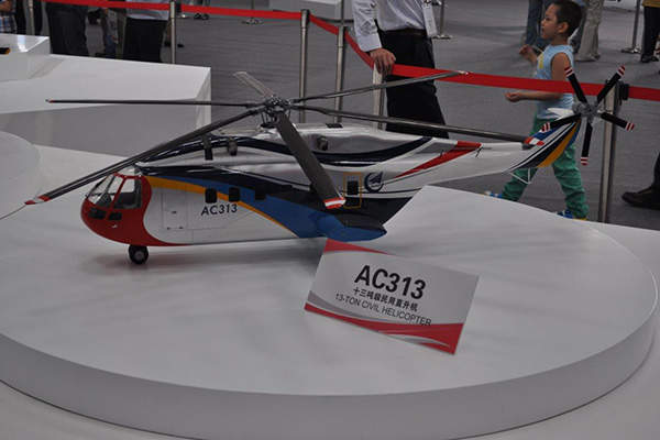 The AC313 helicopter is the biggest civilian helicopter built in China. Image courtesy of AHS International.