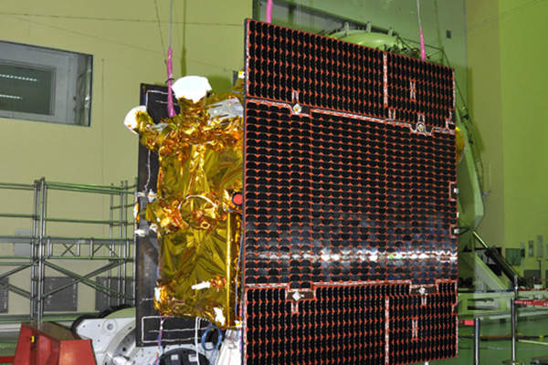 IRNSS-1C is a navigation satellite manufactured by ISRO. Image courtesy of Indian Space Research Organisation (ISRO).