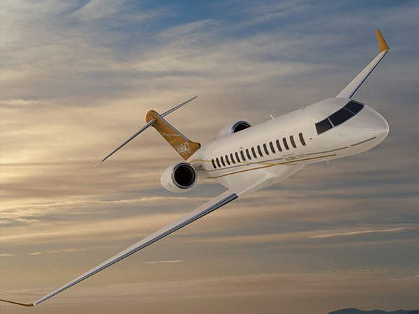 The Global 7500 features high speed transonic wings. Credit: Bombardier.