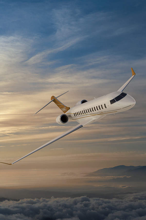 The Global 7500 features high speed transonic wings. Image courtesy of Bombardier.