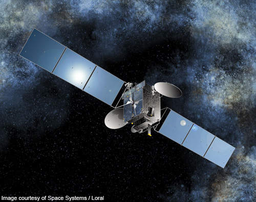 Artistic Rendering of Optus 10 communication satellite.