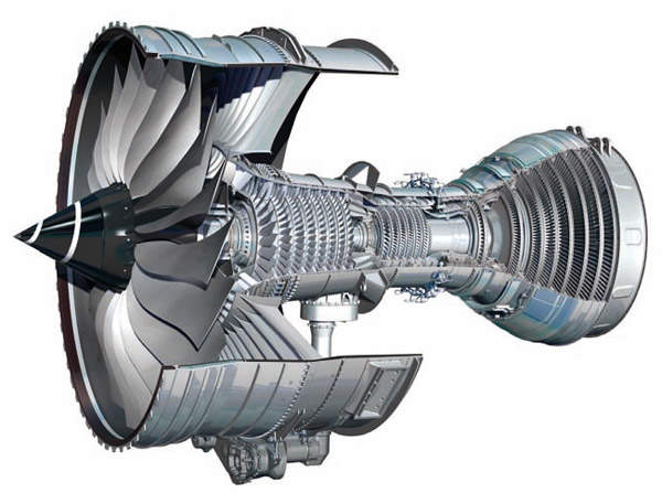 The Rolls-Royce Trent 1000 is a new ultra-high-thrust variant of the Trent family and uses a three-shaft layout. Image courtesy of Rolls Royce.
