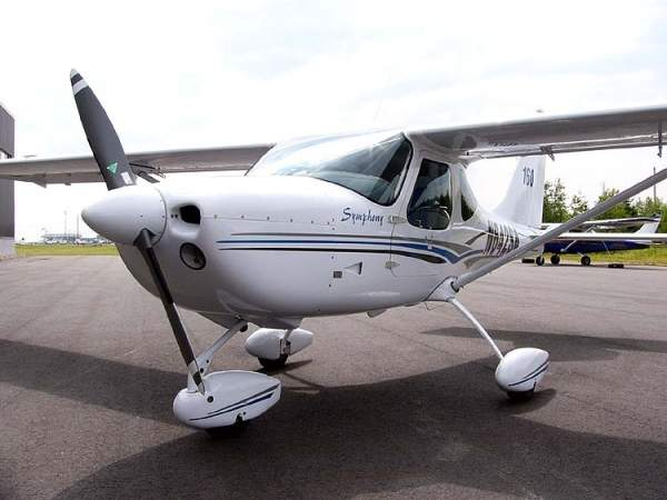 The SA-160 is a single engine light sport aircraft. Image courtesy of Ahunt.