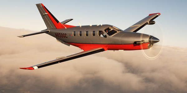 The TBM 850's top speed of 320ktas puts it close to that of light business jets, which are more expensive to operate.