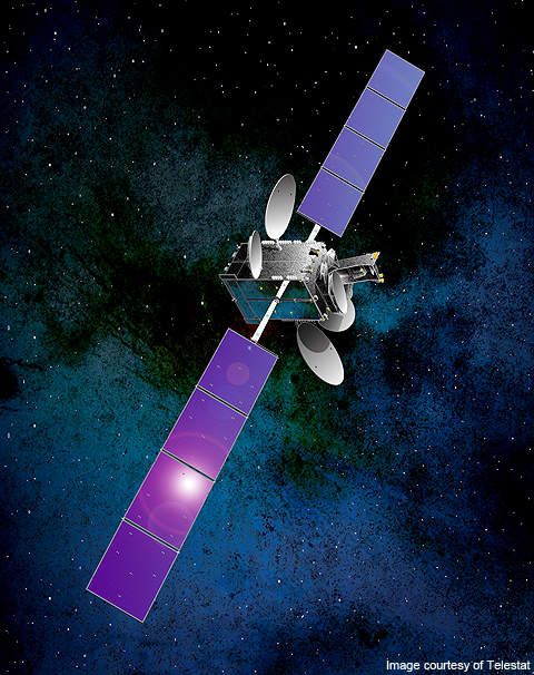 The Telstar 14R is a telecommunications satellite, designed by Space Systems Lorel in the US.